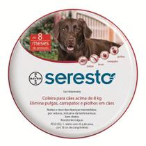 Coleira Antipulgas e Carrapatos Bayer Seresto para Cães acima de 8 Kg -