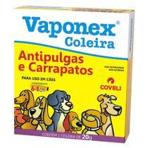 Coleira Antipulgas e Carrapatos Coveli Vaponex para Cães 20g -
