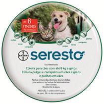 Coleira Antipulgas Seresto Bayer Cães E Gatos Até 8kg -