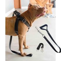 Coleira Peitoral Cachorro Guia Adaptador Pit Bull ANTI PUXÃO - Dedcases