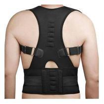 Colete Cinta Modeladora Lombar Postura Magnetico Corretor Costas e Coluna Modelo 2 - Sagathe Modas
