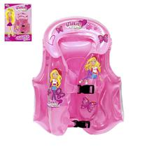 Colete Inflável Infantil Glam Girls c/ Encosto - 131216 - Wellmix