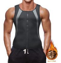 Colete Neoprene Modelador Corretor Postura Efeito Sauna Masculino Regata - Getit Well