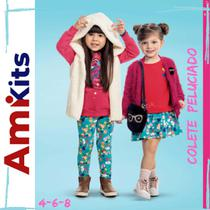 Colete Peluciado Feminino Kamylus Tamanho 4-6-8 - Ami Kits