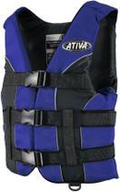 Colete Salva-Vidas Esportivo Ativa 55 Classe V Homologado Jet Ski Lancha Tamanho G Azul - Ativa náutica