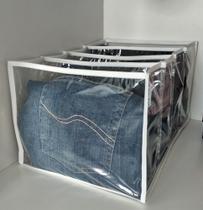 Colmeia Organizadora de Calça Jeans (2 unidades) - Cia Das Capas