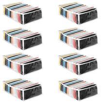 Colmeia Organizadora de Roupa Multiuso Transparente 25x35x10 10 Nichos Kit 8 Unidades - 123 Organizei