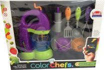 Color Chefs Kit Batedeira C/ App Roxo Usual Plastic -
