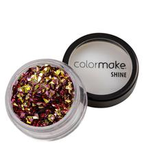 Colormake Shine Formatos Diamante 3D Ouro - Glitter 2g -