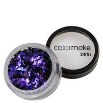 Colormake Shine Formatos Diamante 3D Roxo - Glitter 2g -