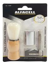 COM 2 Kit Aparelho Barbear Retro Antigo Com Pincel E Lâmina - IMPORIENTE