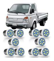 Combo 10 Lâmpadas 6 LEDs SMD 1 Polo Trava e Pinos Reto Luz Branca - Autopoli