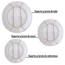 Combo 10 Suportes/ganchos Mola Pratos Decorativos Parede - Artesanal