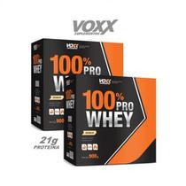 Combo 100% Pro Whey Voxx 1,8kg - Morango -