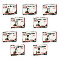 Combo 10un Vermífugo Vetmax Plus 4 Comprimidos Cada - Vetnil -
