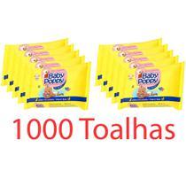 combo 10x100 toalhas lenços umedecidos baby poppy premium mais encorpada (total 1000 toalhas) - Ákua
