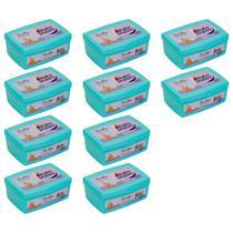 combo 10x100 toalhas lenços umedecidos baby poppy premium mais encorpada (total 1000 toalhas) pote -