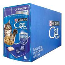 Combo 15un Cat Chow Sachê Úmidos Castrados Peixe 85g cada - Purina