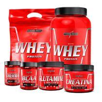 Combo - 2 Nutri Whey + Creatina + Bcaa + Glutamine + Therma - Integral Médica