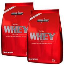 Combo 2 - Nutri Whey Protein - Refil Morango 907g - Integralmédica - Integral Médica