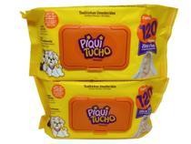 Combo 2 pacotes lenço toalhas umedecidas sem álcool 240 unid - Piqui Tucho