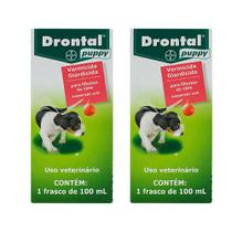 Combo 2 unidades Drontal Puppy para Cães - 100 ml - Bayer