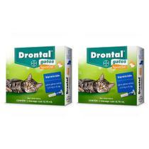 Combo 2 Unidades Drontal Spot On 0,70ml para Gatos 2,5 a 5 kg - Bayer -