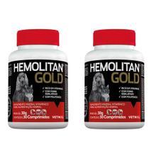 Combo 2 unidades Hemolitan Gold - 30 Comprimidos - Vetnil