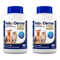 Combo 2 unidades Pelo e Derme 1500 mg - 60 comprimidos - Vetnil