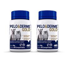 Combo 2 unidades Pelo e Derme Gold Suplemento Vetnil - 60 comprimidos -