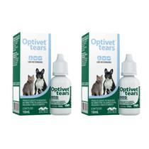Combo 2un Colírio Lubrificante Optivet Tears 10ml cada - Vetnil -