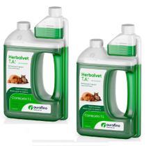 Combo 2un Herbalvet Desinfetante 1l Cada Ourofino -