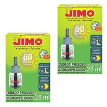 Combo 2un Jimo Anti-Inset Refil Líquido 60 Noites Mosquitos -