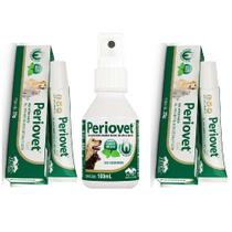 Combo 2un Periovet Gel 25g + 1un Spray 100ml - Vetnil -