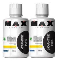 Combo 2x L Carnitina Pure 400ml - Max Titanium -