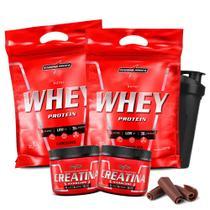 Combo 2x Nutri Whey Protein 2x Creatina + Coqueteleria - Integral Médica