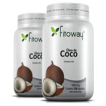 Combo 2x Oleo De Coco Fitoway 1.000mg 120 Capsulas -