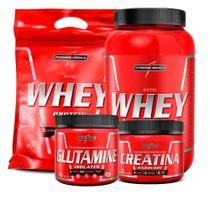 Combo 2x Whey Protein Isolado(nutri) + Glutamina + Creatina - Integral Médica