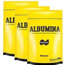 Combo - 3 Albumina Refil - 500g Banana - Naturovos -