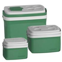 Combo 3 Caixa Térmica 32, 12, 5 L Verde Cooler Soprano -