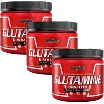 Combo 3 Glutamina Powder Isolate - Natural 300g - Integralmédica - Integral Médica