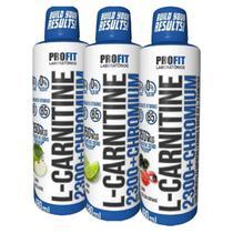 Combo 3 L-Carnitine 2300 Chromium 480ml- L Cartinina- Profit -