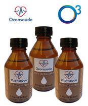 Combo 3 Óleo Ozonizado De Coco Extravirgem - 80ml Ozonsaúde - Não Definida