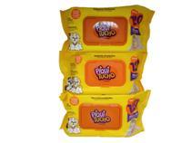 Combo 3 pacotes lenço toalhas umedecidas Piqui Tucho 360 uni -
