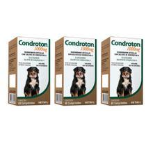 Combo 3 unidades Condroton 1000mg Vetnil - 60 comprimidos -