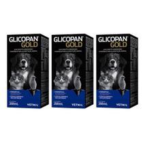 Combo 3 unidades Glicopan Gold - 250 ml - Vetnil