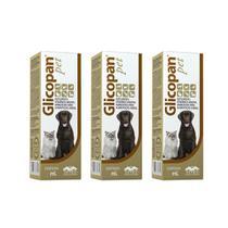 Combo 3 unidades Glicopan Pet - 250 ml - Vetnil