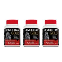 Combo 3 unidades Hemolitan Gold - 30 Comprimidos - Vetnil
