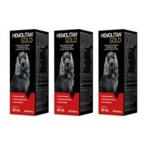Combo 3 unidades Hemolitan Gold - 60 ml - Vetnil