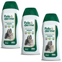 Combo 3un Shampoo Pelo e Derme hipoalergênico 320ml - Vetnil - Virbac
